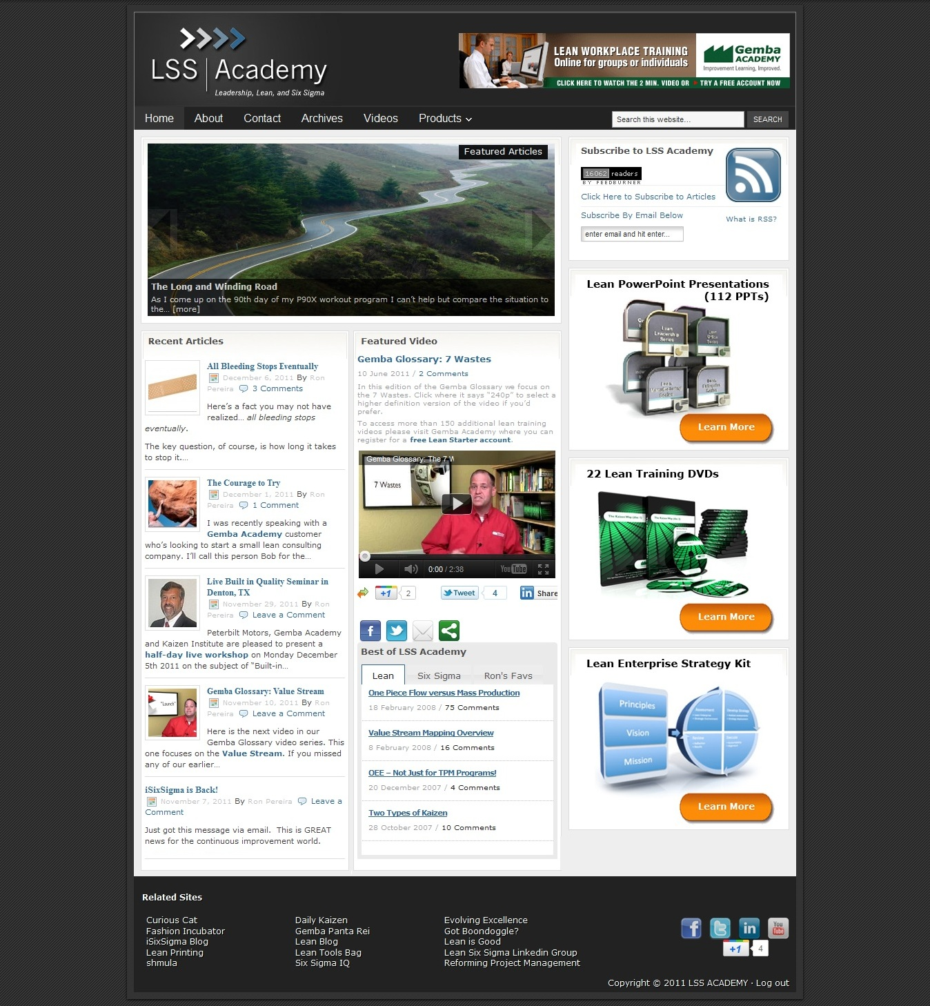 LSS Academy – Blog Design