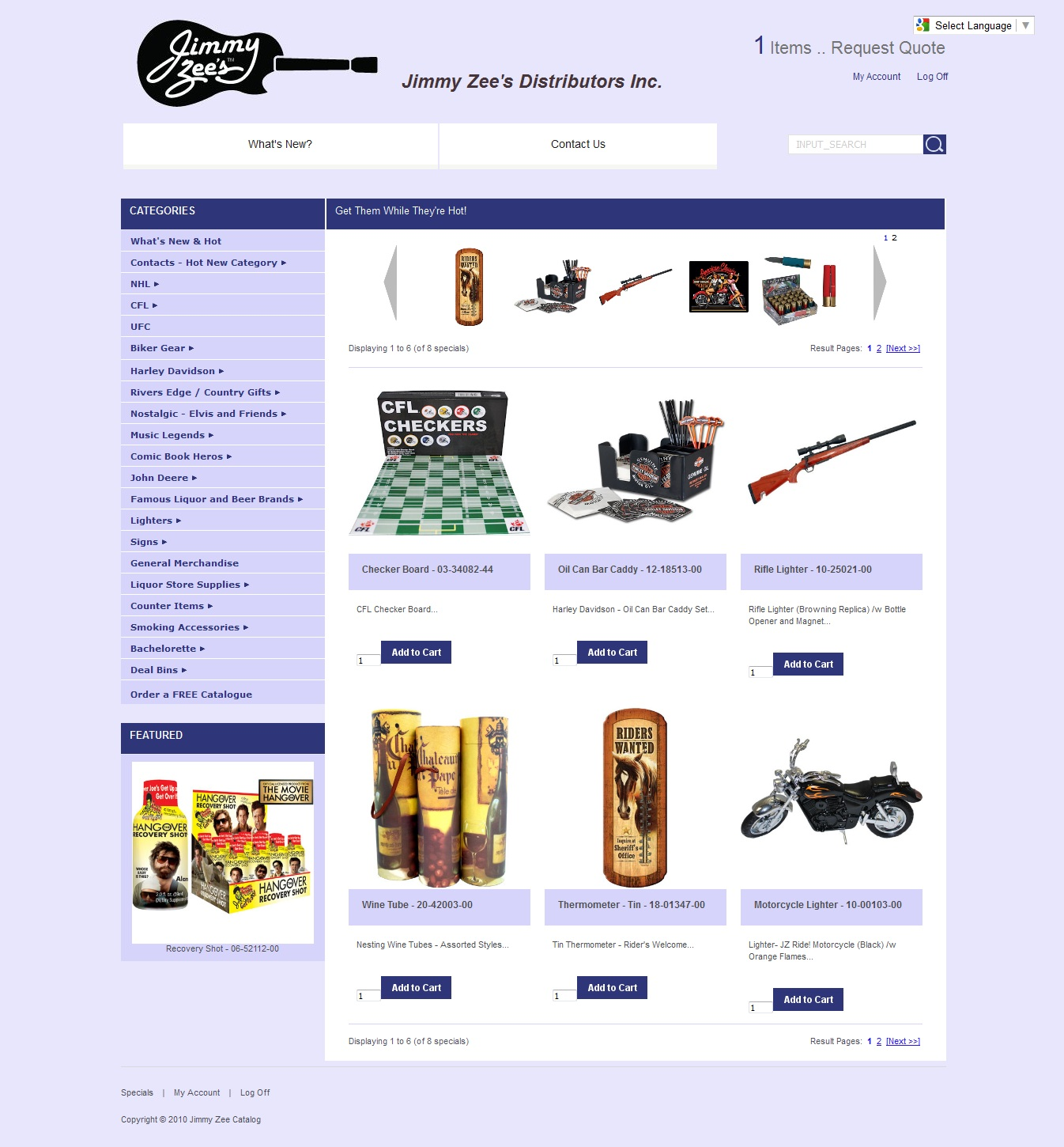 Jimmy Zee's Distributors Inc – Ecommerce Website Design