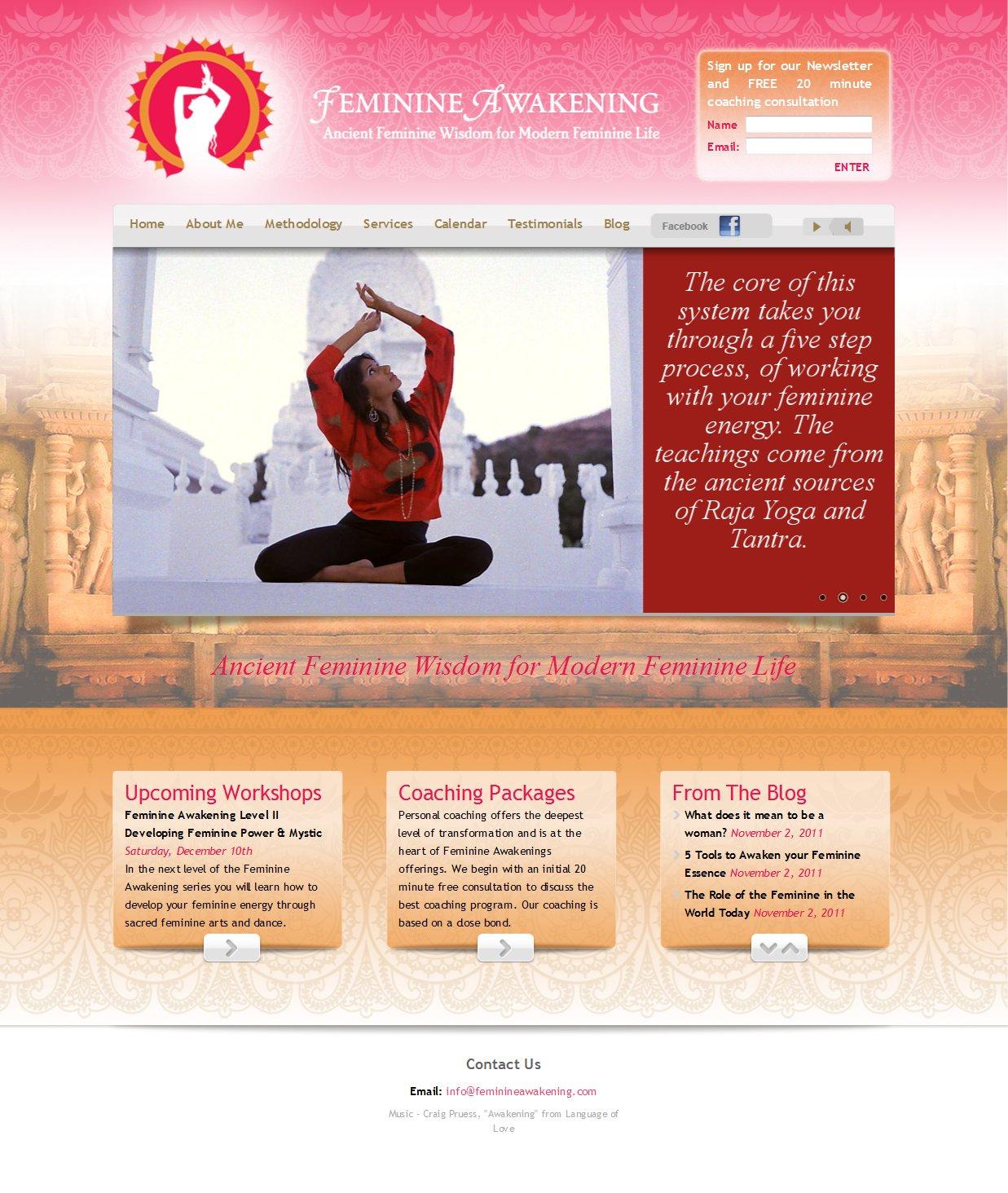 Feminine Awakening Website Development