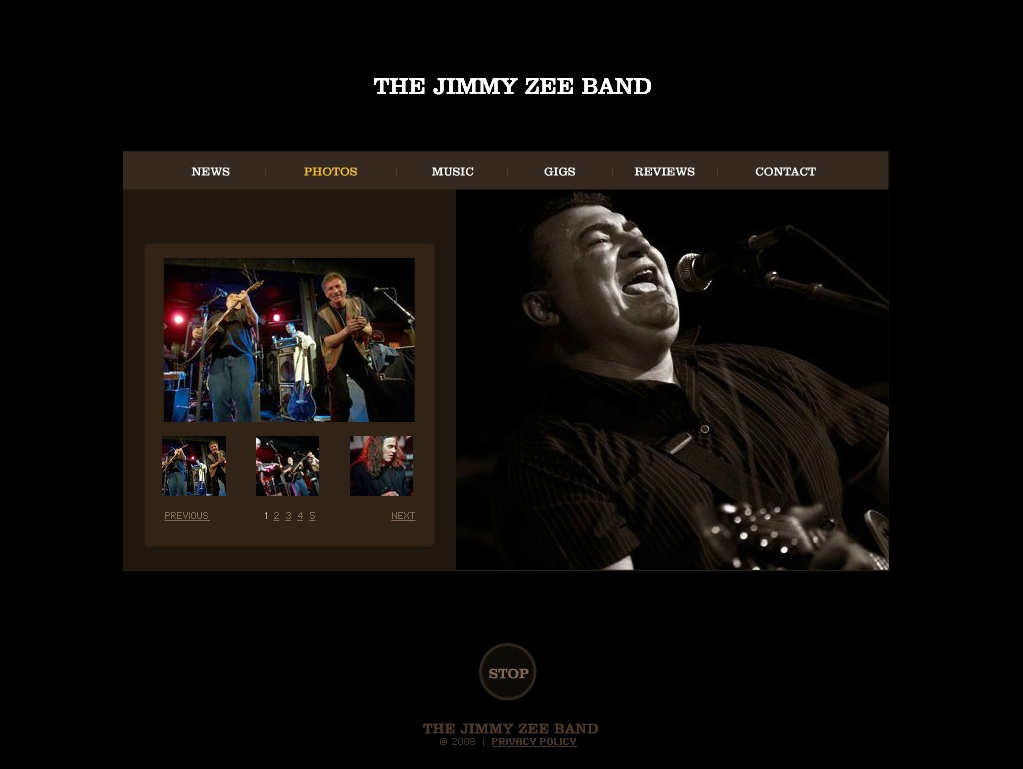 The Jimmy Zee Band – Flash Website Development