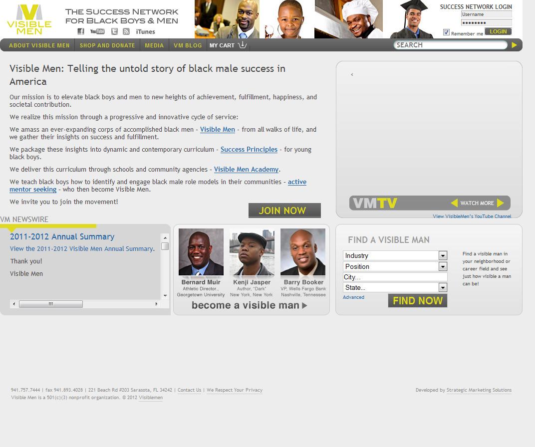 Visible Men Website Maintenance